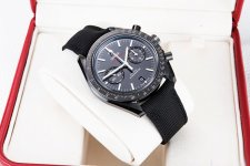 腕表鉴赏:商务休闲 欧米茄月球表系列全黑腕表